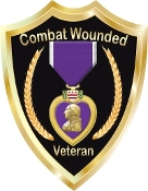 Purple Heart Shield Decal