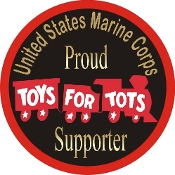 (O)Toys for Tots Proud Supporter Decal