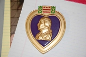 Purple Heart Paper Weight