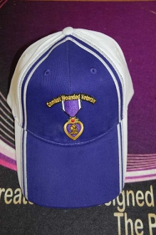 Hat Purple White Purple Heart
