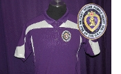 Purple with White Top Trim Poly Polo