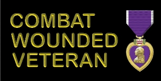LP Combat Wounded Veteran License Plate