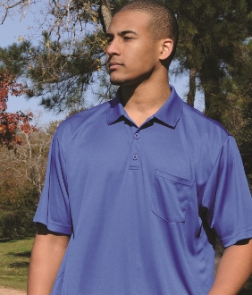 Polo 100% Poly with Pocket-MOPH