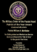 Purple Heart Award Plaques & Statues