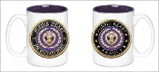 3D Purple Heart Family 15oz Mug