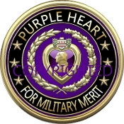 New 3D Purple Heart Design