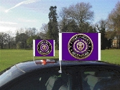 Purple Heart Car Flag