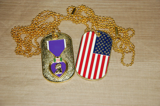 Purple Heart Dog Tag