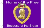 Purple Heart 2' x3' Flag