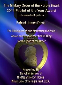Purple Haze Purple Heart Award Plaques