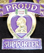 Proud Supporter Lapel Pin
