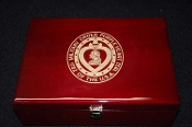 Wood Keepsake Box. Medal display