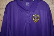 Purple Two Tone Polyester Polo Shirt
