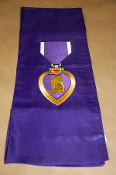 Purple Heart Sash Drape