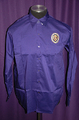 Long Sleeve Purple Dress Shirt