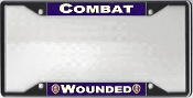 Combat Wounded License Plate Frame