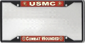 USMC Combat Wounded License Plate Frame