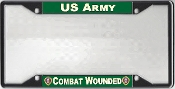 US Army Combat Wounded License Plate Frame