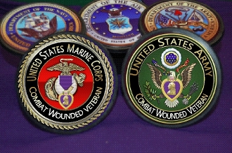 Purple Heart Branch of Service Receiver Hitch Cover