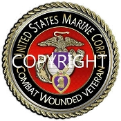 Mouse Pad Purple Heart Branch of Service