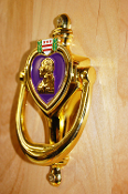 Purple Heart Door Knocker
