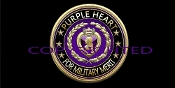 3D Purple Heart Merit License Plate