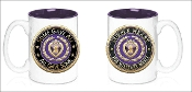 3D Purple Heart Merit 15oz Mug
