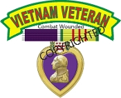 Vietnam Veteran Purple Heart Decal