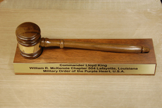 Commanders Gavel Set