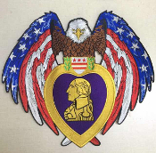 Eagle Purple Heart Patch XL
