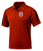 Red & Black Polyester Polo Shirt