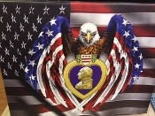 American Eagle Purple Heart Canvas Print